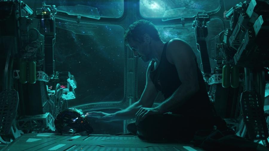 """Robert Downey Jr. como Tony Stark em cena de """"Vingadores: Ultimato"""" - Divulgação"""