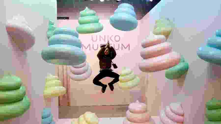 "O Unko Museum (""unko"", em japonês, significa cocô) foi aberto na cidade japonesa de Yokohama - REUTERS/Kim Kyung-hoon"