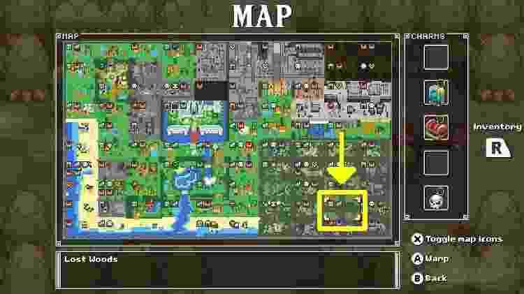 Essa é a localização de Lost Woods - Reprodução