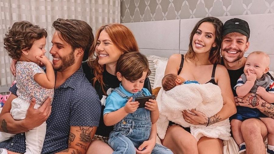 A família Poncio posa junto - Reprodução/Instagram