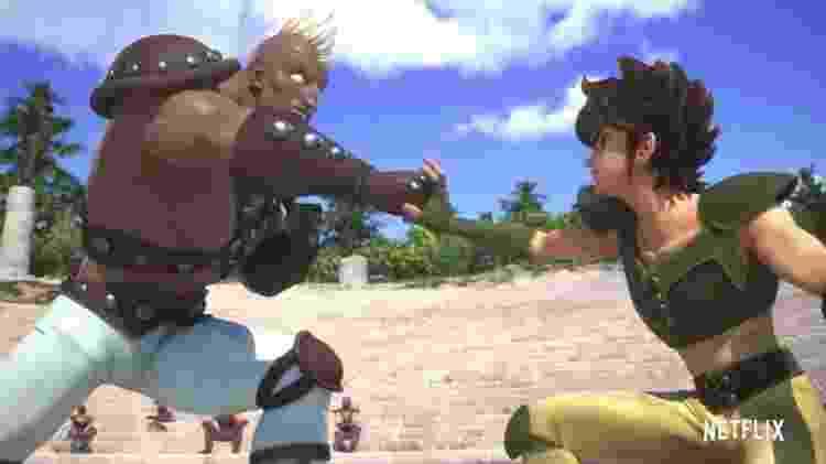 Cássius e Seiya se enfrentam em Os Cavaleiros do Zodíaco, anime da Netflix - Reprodução/Netflix - Reprodução/Netflix