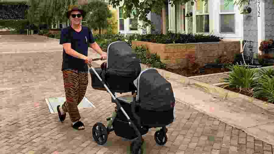 Paulo Gustavo com os filhos gêmeos, Romeu e Gael - Reprodução/Instagram @paulogustavo31