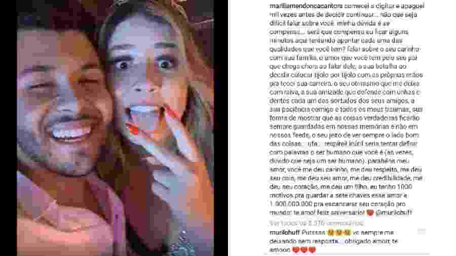 Murilo Huff comenta declaração de amor de Marília Mendonça - Reprodução/Instagram