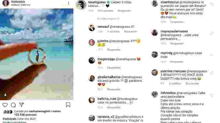 Thaila Ayala posta foto, Renato Goés comenta e fãs especulam gravidez - Reprodução/Instagram