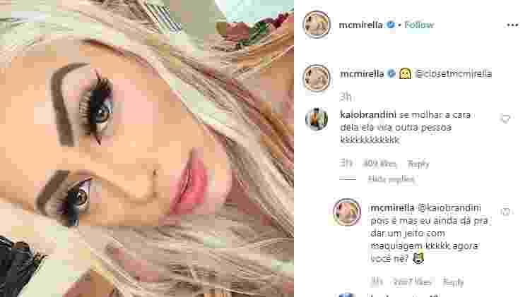 Reprodução/Instagram/mcmirella