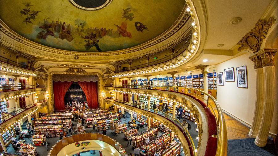 A livraria El Ateneo, em Buenos Aires - Ente de Turismo de la Ciudad de Buenos Aires/Divulgação
