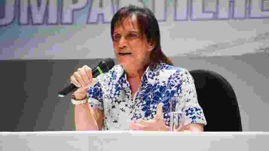 Roberto Carlos na coletiva de imprensa do cruzeiro Emoções em Alto Mar 2020 - Divulgação/ Filipi Dahrlan