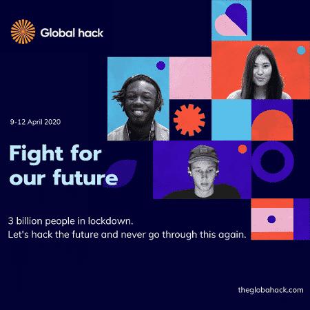 Cartaz da maratona Global Hack  - Divulgação - Divulgação