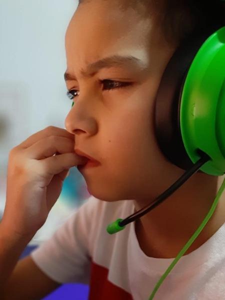 """Vitor Hugo """"Zenon"""" da Fonseca entrou para a Detona Gaming em 2020, aos 9 anos de idade - Arquivo pessoal"""