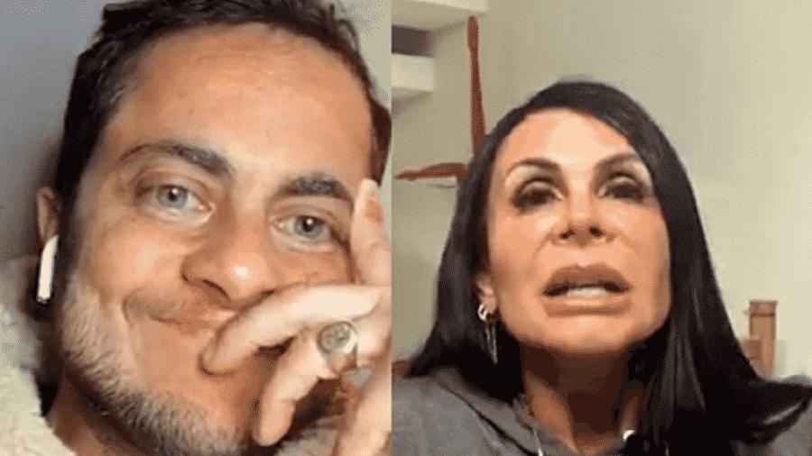 Thammy Miranda e Gretchen em live - Reprodução/Instagram
