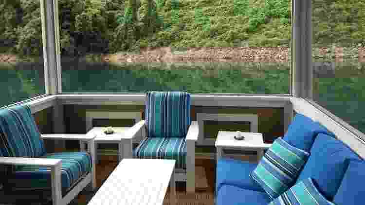 Casa flutuante no estado do Tenessee, nos Estados Unidos - Divulgação - Divulgação