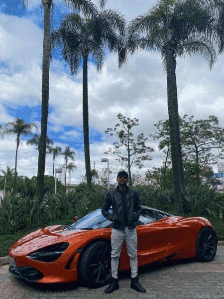 Nego do Borel posou com McLaren vendida por mais de R$ 3 milhões - Reprodução/Instagram/@negodoborel