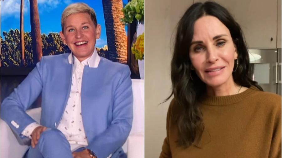 Ellen DeGeneres está morando na casa de Courteney Cox - Reprodução/Instagram