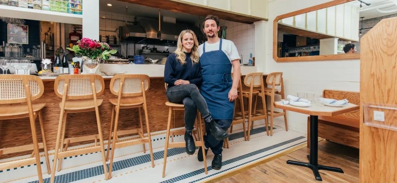 Proprietários do restaurante Dame, em Nova York, nos EUA - Reprodução/DeSean McClinton-Holland