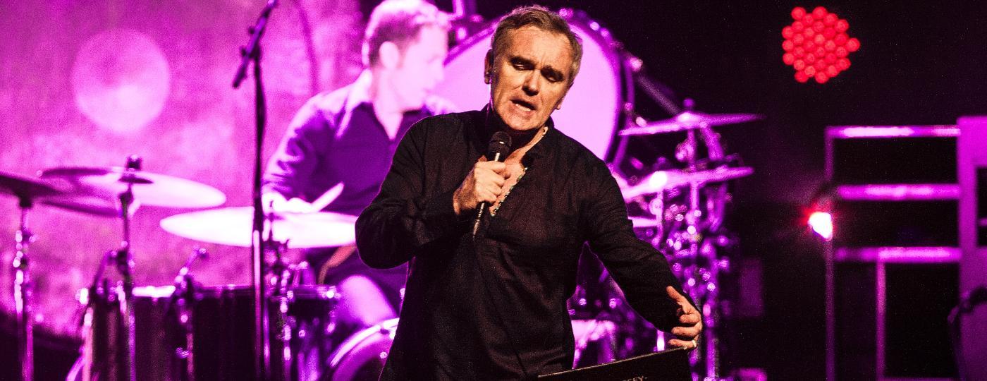 O cantor britânico Morrissey, ex-vocalista dos Smiths, durante turnê que passou por São Paulo em 2015 - Lucas Lima/UOL