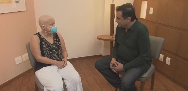 Claudia Rodrigues conversa com Geraldo Luis sobre seu estado de saúde - Divulgação/TV Record