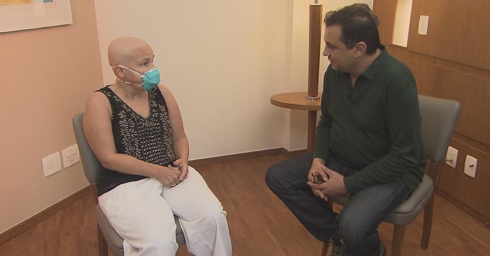 Claudia Rodrigues conversa com Geraldo Luiz sobre seu estado de saúde