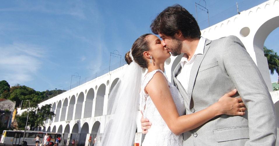 O cortejo é cenário para um casamento de verdade