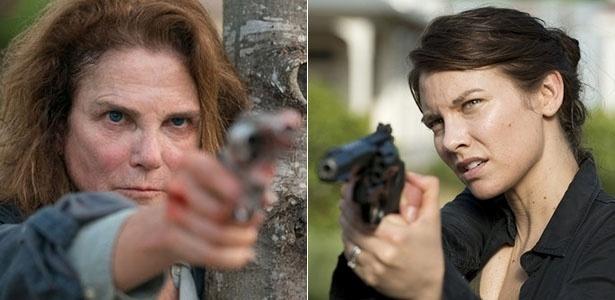 "Deanna (Tovah Feldshuh) e Maggie (Lauren Cohan) em cena de ""The Walking Dead"" - Divulgação/AMC"