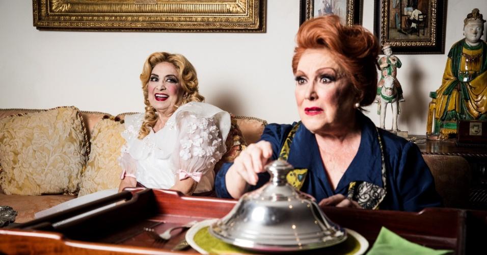 """Eva Wilma e Nicette Bruno em cena do espetáculo """"O Que Terá Acontecido a Baby Jane?"""""""