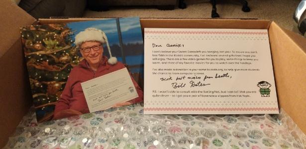Bill Gates participou do amigo secreto do fórum Reddit e caprichou nos presentes para a amiga fã da Nintendo - Reprodução