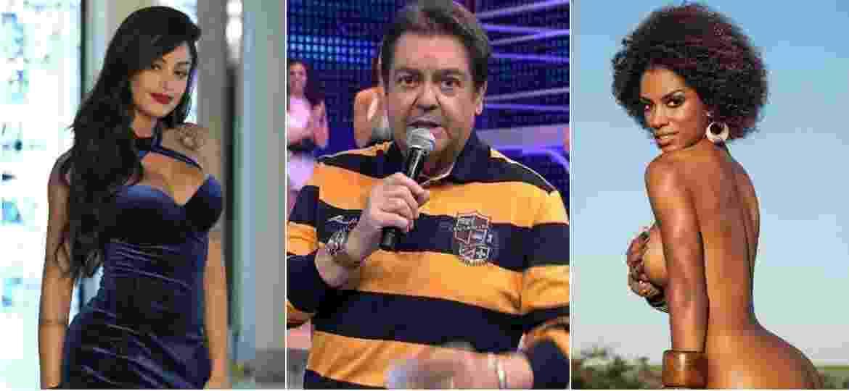 """Aline Riscado foi dispensada ao vivo do """"Domingão"""" e Ivi Pizzott pediu autorização do Faustão para posar nua na """"Playboy"""" - Reprodução/AgNews/Globo/Divulgação"""
