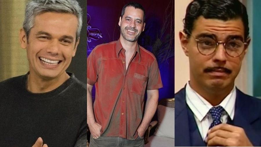 Otaviano Costa sai da Escolinha e Bruno Garcia assume o personagem Ptolomeu, que já foi interpretado por Nizo Neto, filho de Chico Anysio (dir) - Montagem UOL