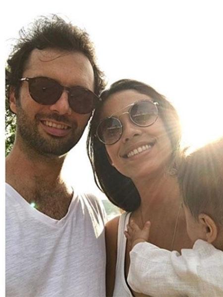 Bia Antony com o marido, Marcelo Ciampolini, e a filha do casal, Maria Julia - Reprodução/Instagram