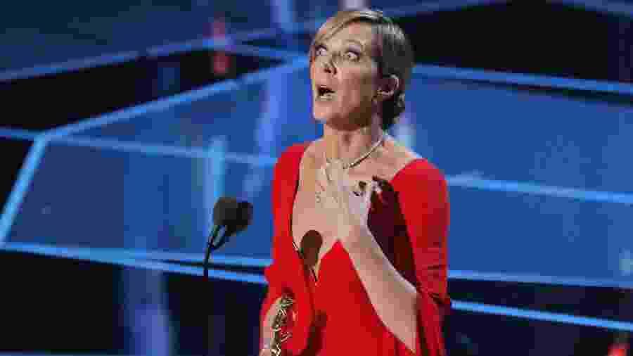 """Allison Janney recebe o Oscar de melhor atriz coadjuvante por """"Eu, Tonya"""" - REUTERS/Lucas Jackson"""