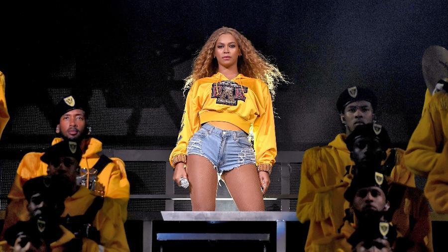 Beyoncé durante sua apresentação no Coachella 2018 -  Larry Busacca/Getty Images for Coachella