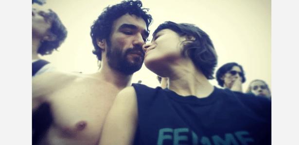 Caio Blat e Luiza Arraes