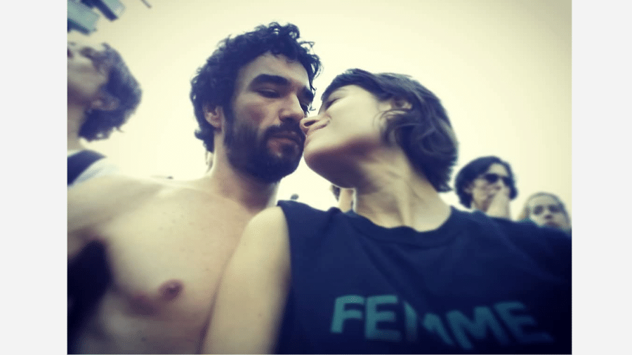 Caio Blat  e Luiza Arraes - Reprodução/Instagram