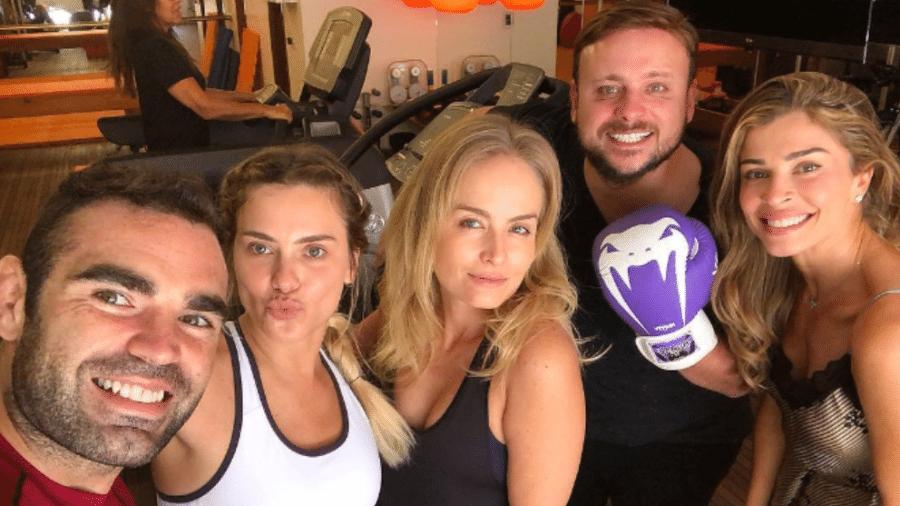 Chico Salgado, Carolina Dieckmann, Angélica, Leo Fuchs e Grazi Massafera - Reprodução/Instagram