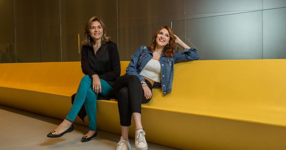 Ana com a mãe, Eva Lima, que faz seu planejamento de carreira