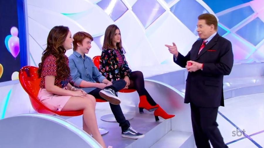 Silvio Santos conversa com Larissa Manoela em seu programa no SBT - Reprodução/SBT