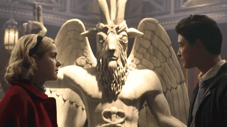 """A representação de Baphomet em """"O Mundo Sombrio de Sabrina"""" - Reprodução/Netflix - Reprodução/Netflix"""