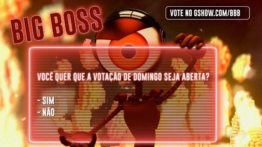 Leifert apresenta para o público as opções do Big Boss desta semana - Reprodução/TvGlobo
