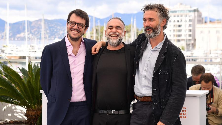 Na ordem: Rodrigo Teixeira, o diretor Karim Aïnouz e o produtor Michael Weber - Matt Winkelmeyer/Getty Images