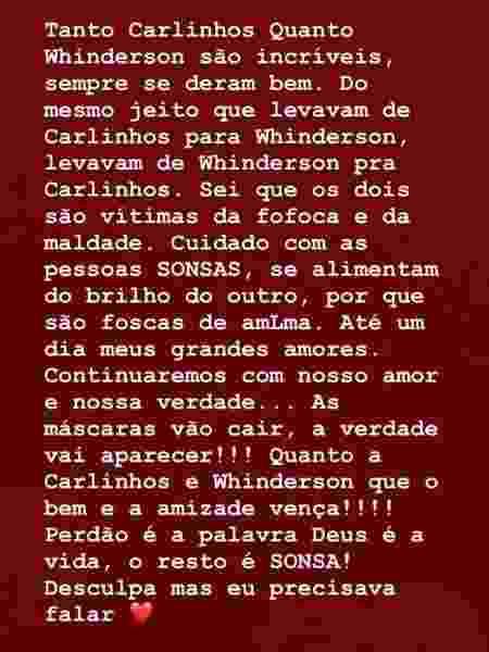 Marido de Carlinhos Maia manda indireta a Luísa Sonza - Reprodução/Instagram