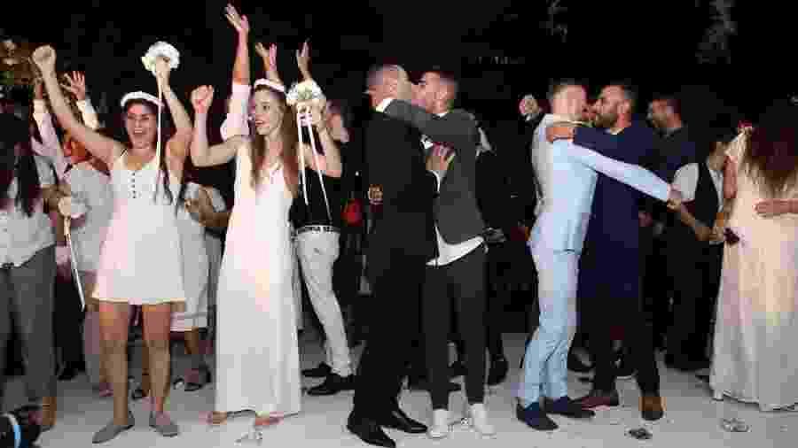 Casamento comunitário LGBT em Israel - Instagram/Reprodução