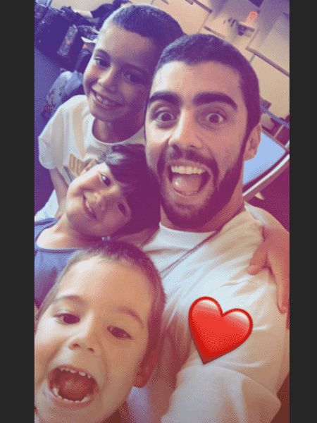 Pedro Scooby e os filhos - Reprodução/Instagram