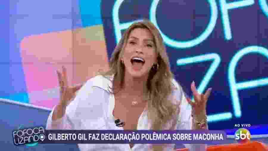 Lívia Andrade fala sobre maconha no Fofocalizando - Reprodução/SBT