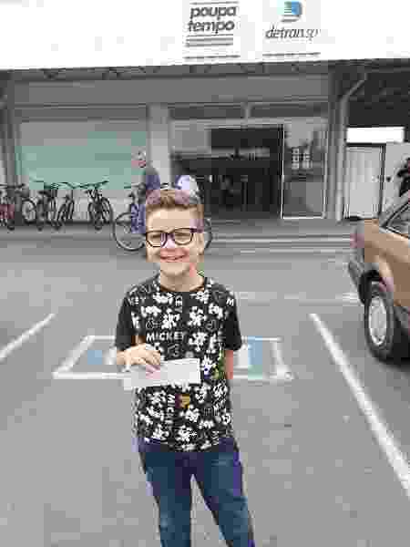 Eduardo Lopes Freitas, garoto trans de 8 anos que mudou nome social no RG  - Arquivo pessoal