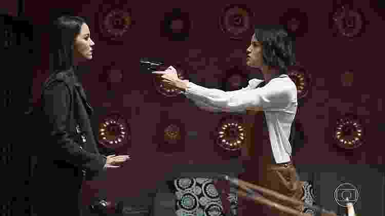Nathalia Dill (Fabiana) e Ágatha Moreira (Josiane) - Reprodução/TV Globo - Reprodução/TV Globo