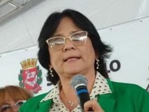 Damares Alves, ministra de Estado da Mulher, da Família e dos Direitos Humanos, participa da cerimônia de abertura da primeira unidade de São Paulo da Casa da Mulher Brasileira no último dia 11 - Ministério da Mulher, da Família e dos Direitos Humanos/Divulgação