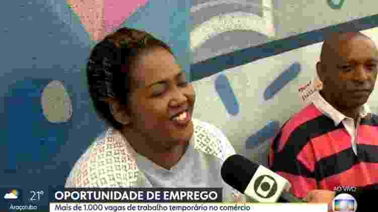 Jéssica, que procura um emprego, em participação no Bom Dia SP - Reprodução/TV Globo