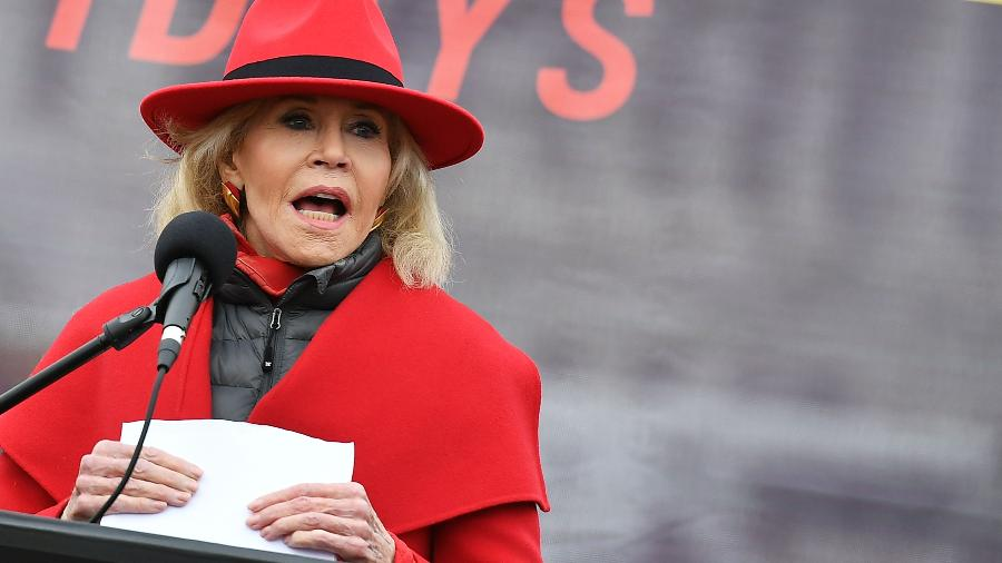 Jane Fonda protesta nos EUA - AFP