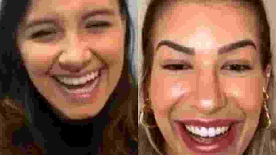 Lore Improta e Paula Oliveira em live - Reprodução/Instagram
