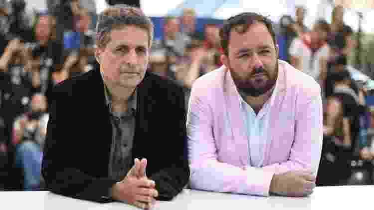 Os diretores Kleber Mendonça Filho e Juliano Dornelles no Festival de Cannes  - Loic Venance/AFP - Loic Venance/AFP