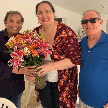 Renato Aragão e a mulher Lilian encontraram Dedé Santana - Reprodução/Instagram